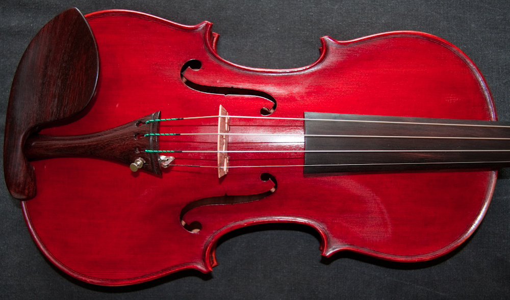 Beautifil red violin, old antique Italian violin labelled FM Bertucci 1928