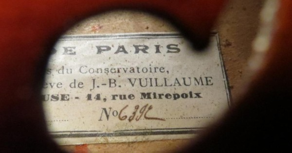 Old antique French violin Pierre Gautie 1920-30