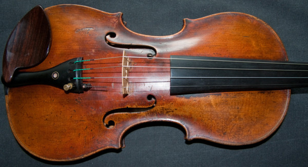 18th century antique Italian violin labelled Floinus Guidantus 1730