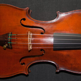 Old antique Italian violin labelled Carolus Columbus Bruno 1901