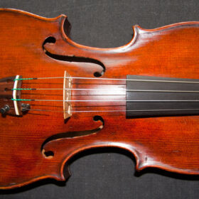 18th century Italian violin labelled Santus Seraphin 1736