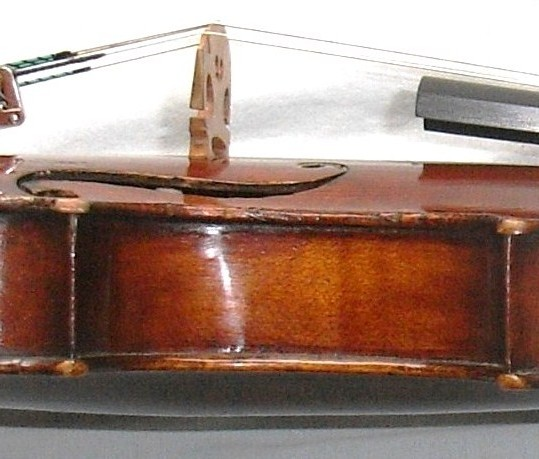Brilliant antique German violin by Friedrich August Glass 1830