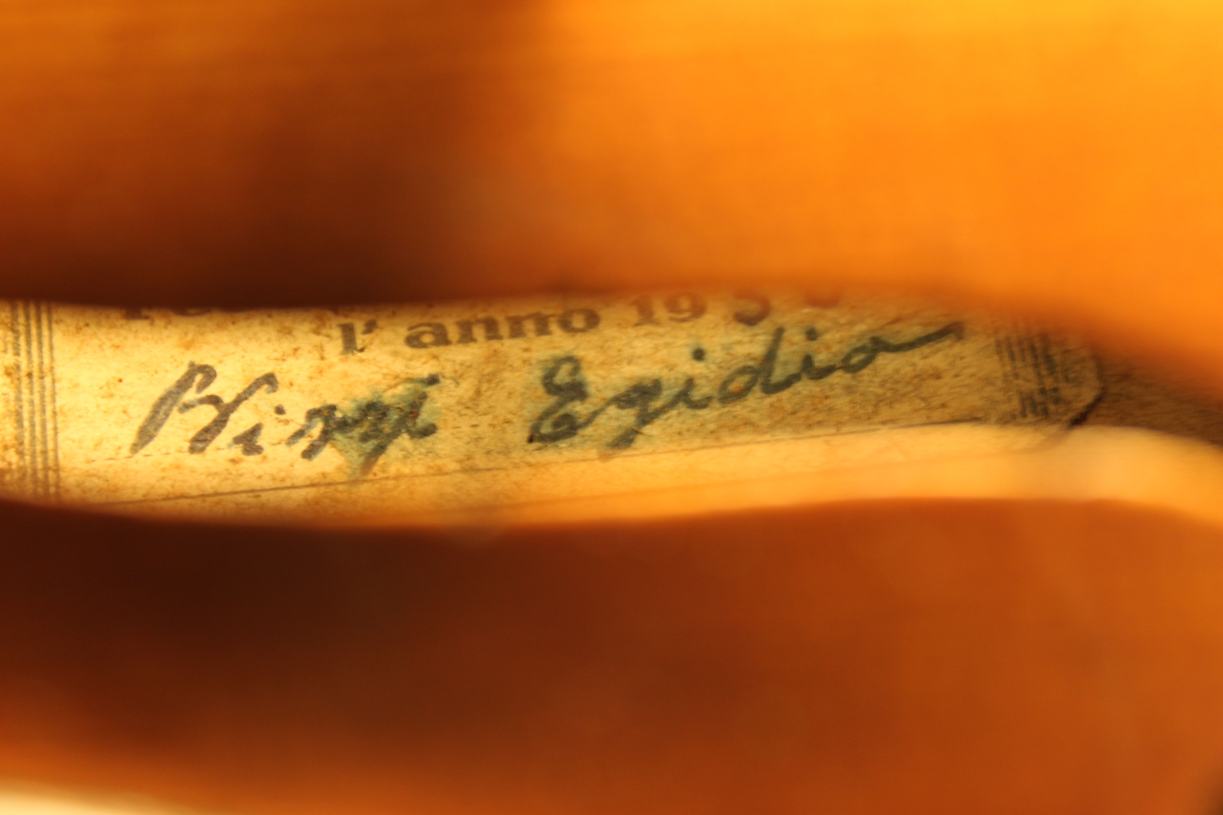 Italian violin by Egidia Bizzi 1950