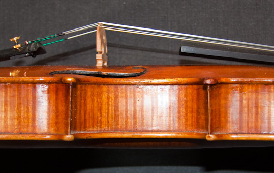 Old German violin labelled Jacobus Stainer